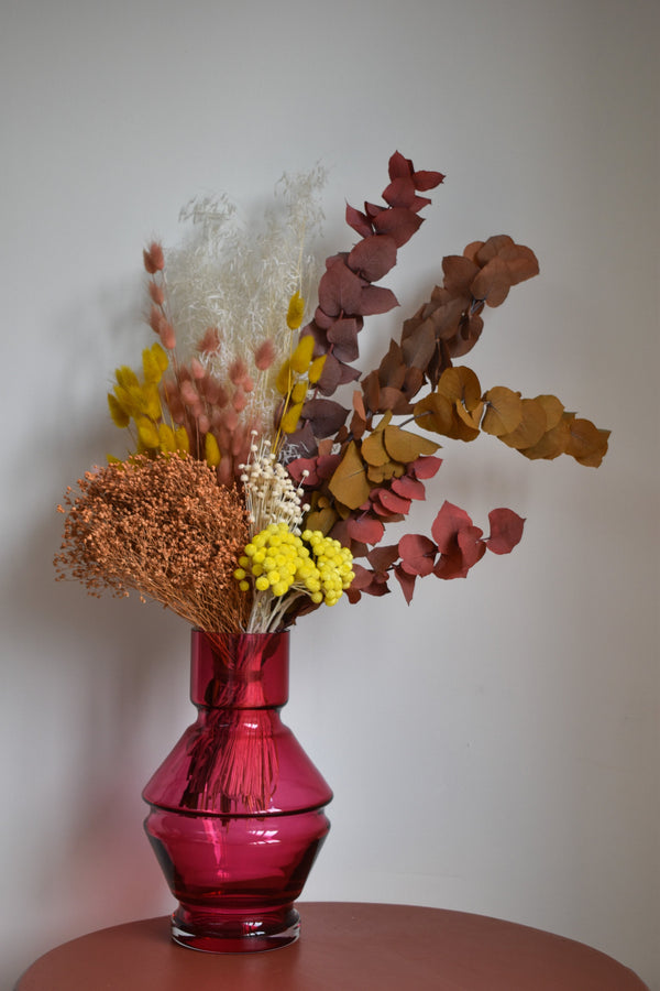 Raawii Relæ Vase (Large) - Rubine Red Dried Flowers - Appreciation Project