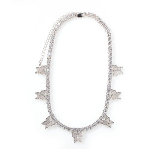7-Butterfly Tennis Necklace