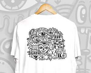 'Looking at You' / Black & White Unisex T-Shirt