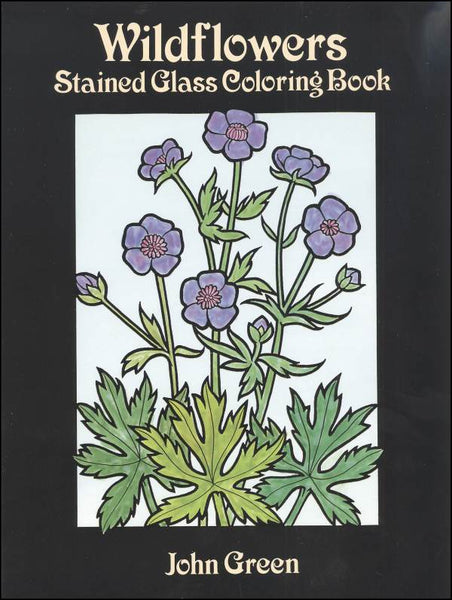 Wildflowers Stain Glass Coloring Book