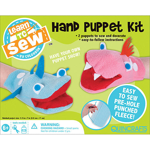Learn To Sew - Hand Puppet Kit