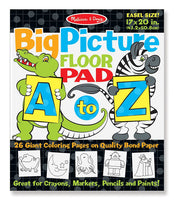 A to Z Animal Alphabet Coloring Pad