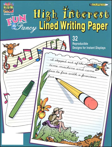 High Interest Lined Writing Paper