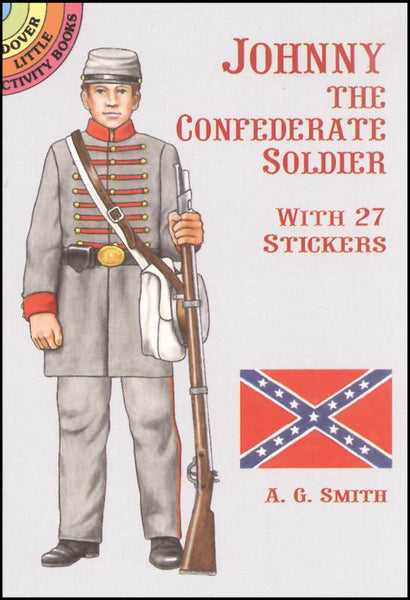 Johnny The Confederate Soldier Sticker Paper Doll
