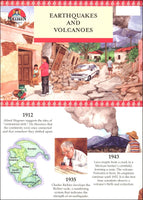 Earthquakes & Volcanoes Fold Out Timeline