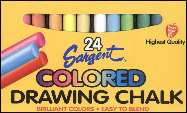 Sargent Art - Colored Drawing Chalk 24 Colors