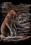 Engraving Art - Grizzly Bears (Copper)