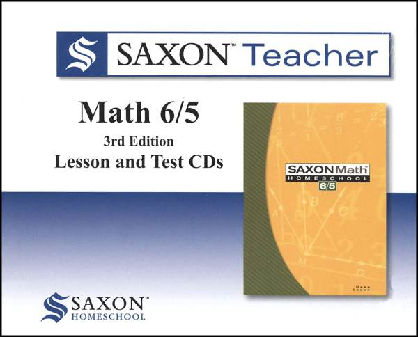 Saxon Math 6/5 Homeschool Saxon Teacher CD ROM 3rd Edition