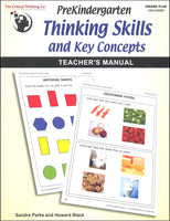 PreKindergarten Thinking Skills & Key Concepts: Teacher's Manual