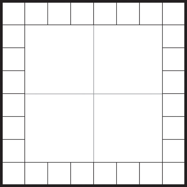 Blank Framed Game Board