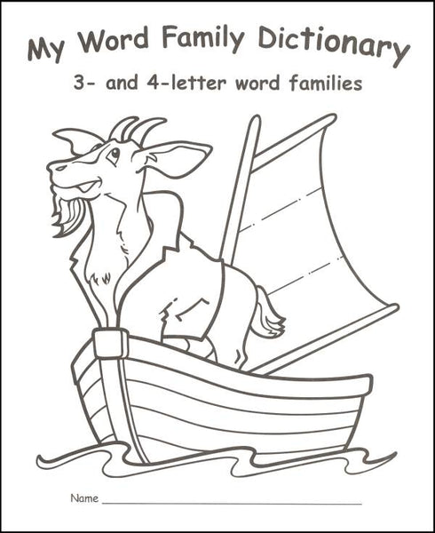My Word Family Dictionary: 3- and 4-letter Word Families