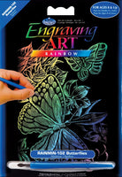 Engraving Art Mini - Butterflies (Rainbow)