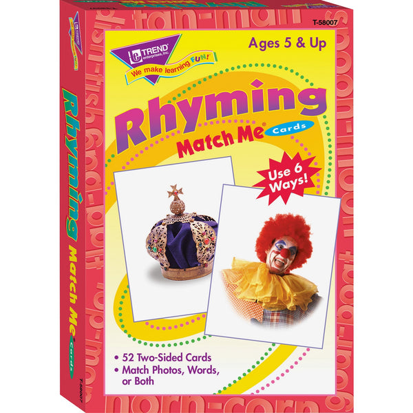 Rhyming Match Me Cards