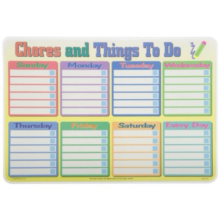 Learning Calender/Chores Placemat