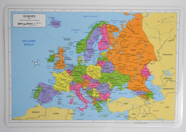 Learning Europe Map Placemat