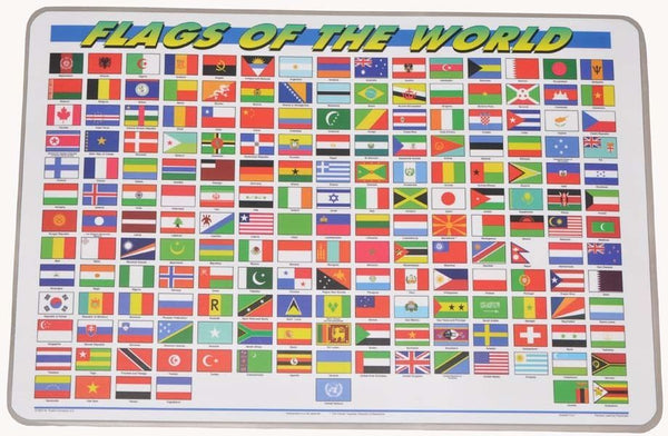Learning Flags of the World Placemat
