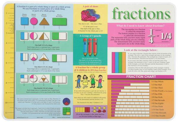 Learning Fractions Placemat