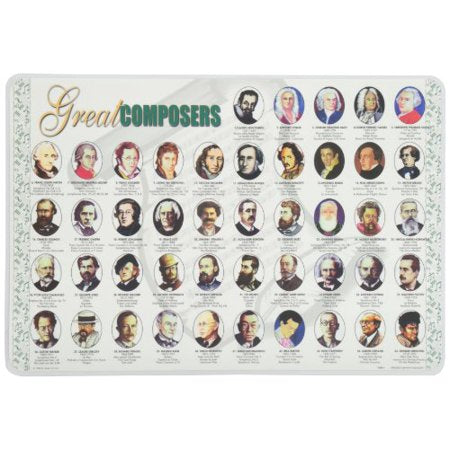 Learning Great Composers Placemat