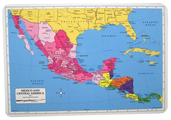 Learning Mexico & Cnetral America Placemat