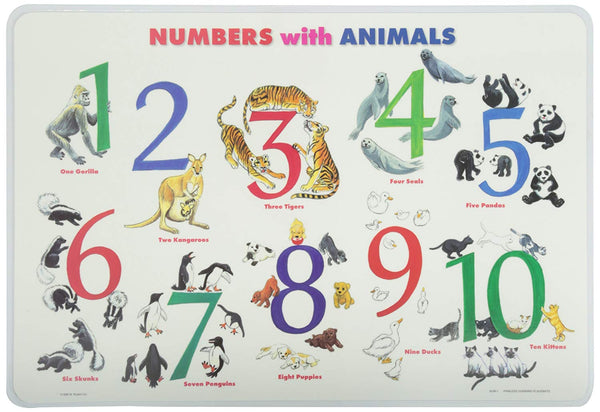 Learning Numbers/Animals Placemat