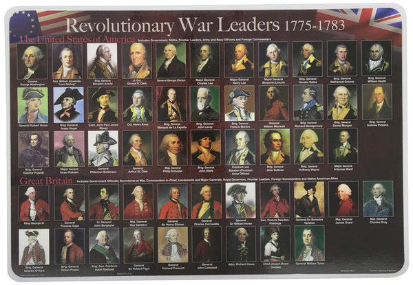 Learning Revolutionary War Placemat