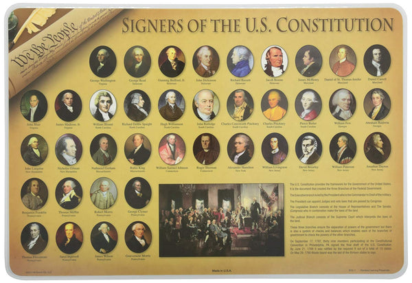 Learning Signers of Constitution Placemat