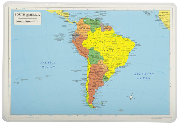 Learning South America Placemat