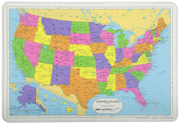 Learning United States Placemat