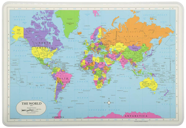Learning World Map Placemat