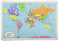 Learning US/World 3-Ring Map Placemat