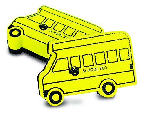 Magnetic Whiteboard Eraser, School Bus Shape