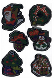 Shiny Christmas Ornaments Stickers
