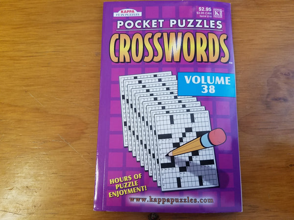 Pocket Puzzles Crosswords Volume 38