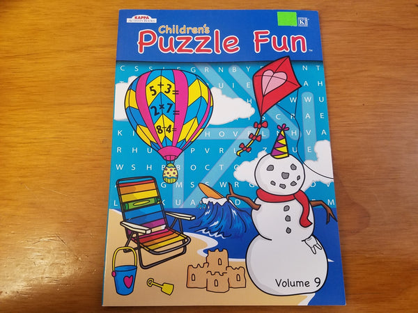 Children's Puzzle Fun Volume 9