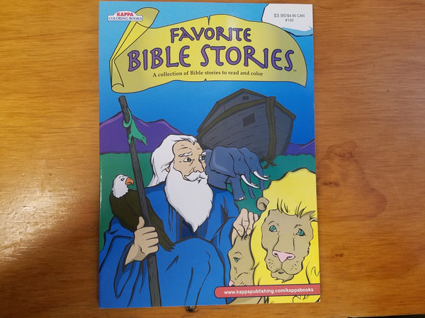 Favorite Bible Stories: A Collection of Bible Stories to Read and Color