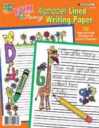 Fun & Fancy Alphabet Lined Writing Paper