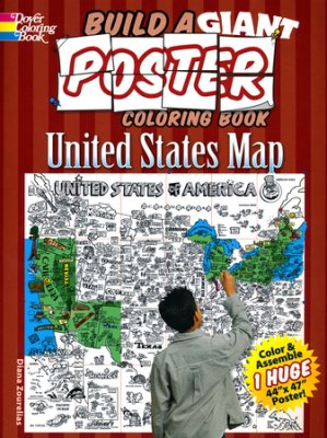 Build a Giant Poster Coloring Book: United States Map