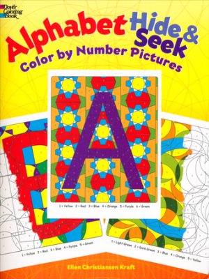 Alphabet Hide & Seek Color by Number Pictures