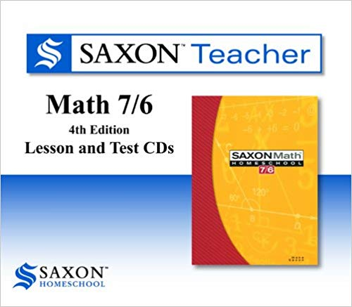 Saxon Math 7/6 Homeschool Saxon Teacher CD ROM 4th Edition