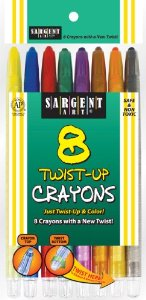 Sargent Art - 8 Twist-Up Crayons