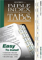 Slim Line Bible Index Tabs (Gold with Black Titles)