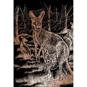 Copper Engraving Art-Kangaroo