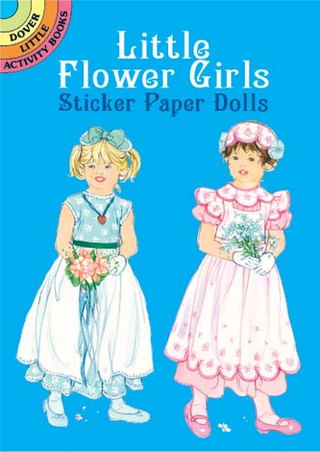 Little Flower Girls Sticker Paper Doll
