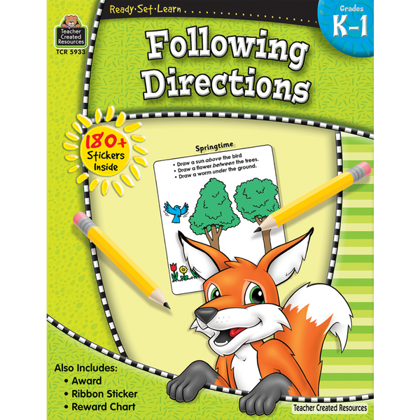 Ready-Set-Learn: Following Directions (Grades K-1)
