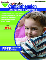 Everyday Comprehension Intervention Activities Grade 1