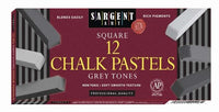 Sargent Art - Square Chalk Pastels (12 Grey Tones)
