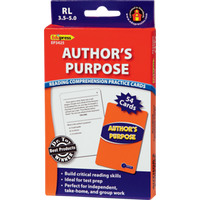 Author's Purpose: Reading Comprehension Practice Cards RL-3.5-5.0