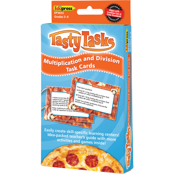 Tasty Tasks Multiplication and Division Task Cards