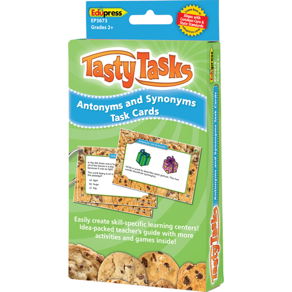 Tasty Tasks Antonyms and Synonyms Task Cards
