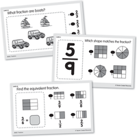 Power Pen Learning Cards: Fractions